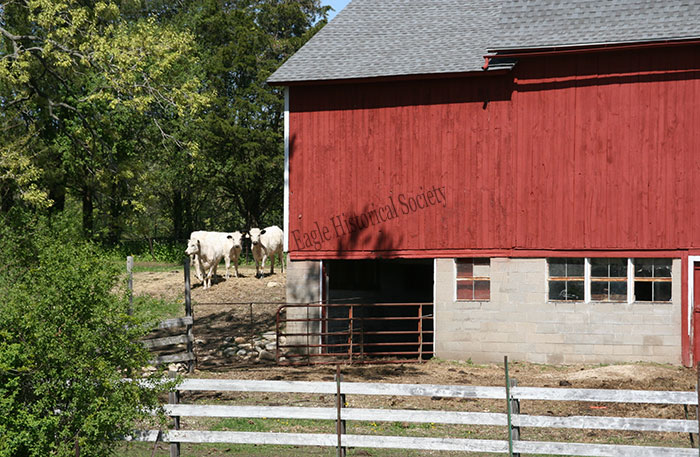 Cattle barn entrance on Mueller farm- 2010