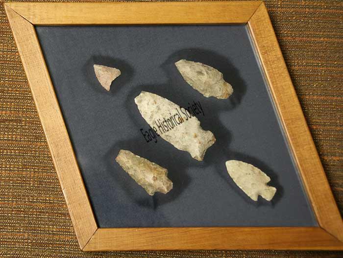 Arrowheads found by Anton Steinhoff