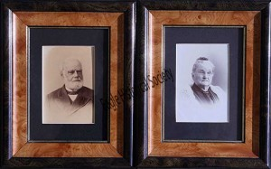 A.R. and Mary Cutler Daniels Hinkley- original owners of the cobblestone house