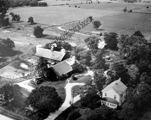 aerial photo of Sprague farm in the 1950's