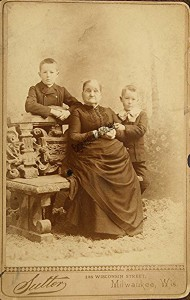 Mary Cutler Daniels Hinkley  with her grandsons