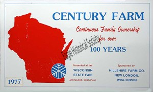 'Century Farm' award  given to Hillcrest Farms in 1977