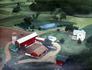 Ernest and Hazel Loefer Farm in 1958