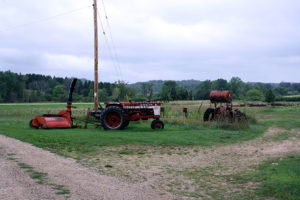 Farm equipment on Loefer's Acres in 2009