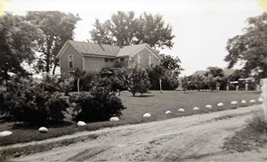 The Juedes home looking south-1940's