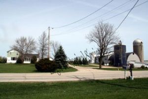 Photograph of Royal Angus Farms in Eagle, Wisconsin. Taken in 2009.
