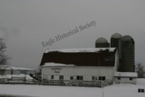 Former Valley View Farms' barn and silos (under Godfrey ownership. Eagle, WI. Photo taken in 2009.