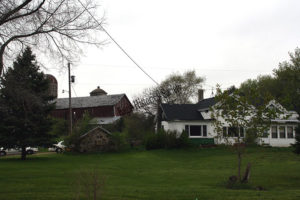 Nelson farm house and barns in 2009