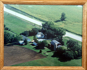 Aerial photograph of Friendly Acres farm in 2003