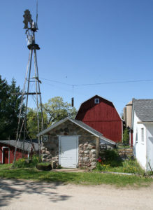 Buildings and windmill on Mueller farm (a.k.a. Friendly Acres) in 2010